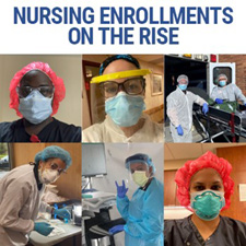 Nursing enrollments on the rise.