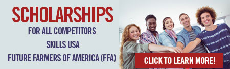 Scholarships for All Competitors Skills USA Future Farmers of America