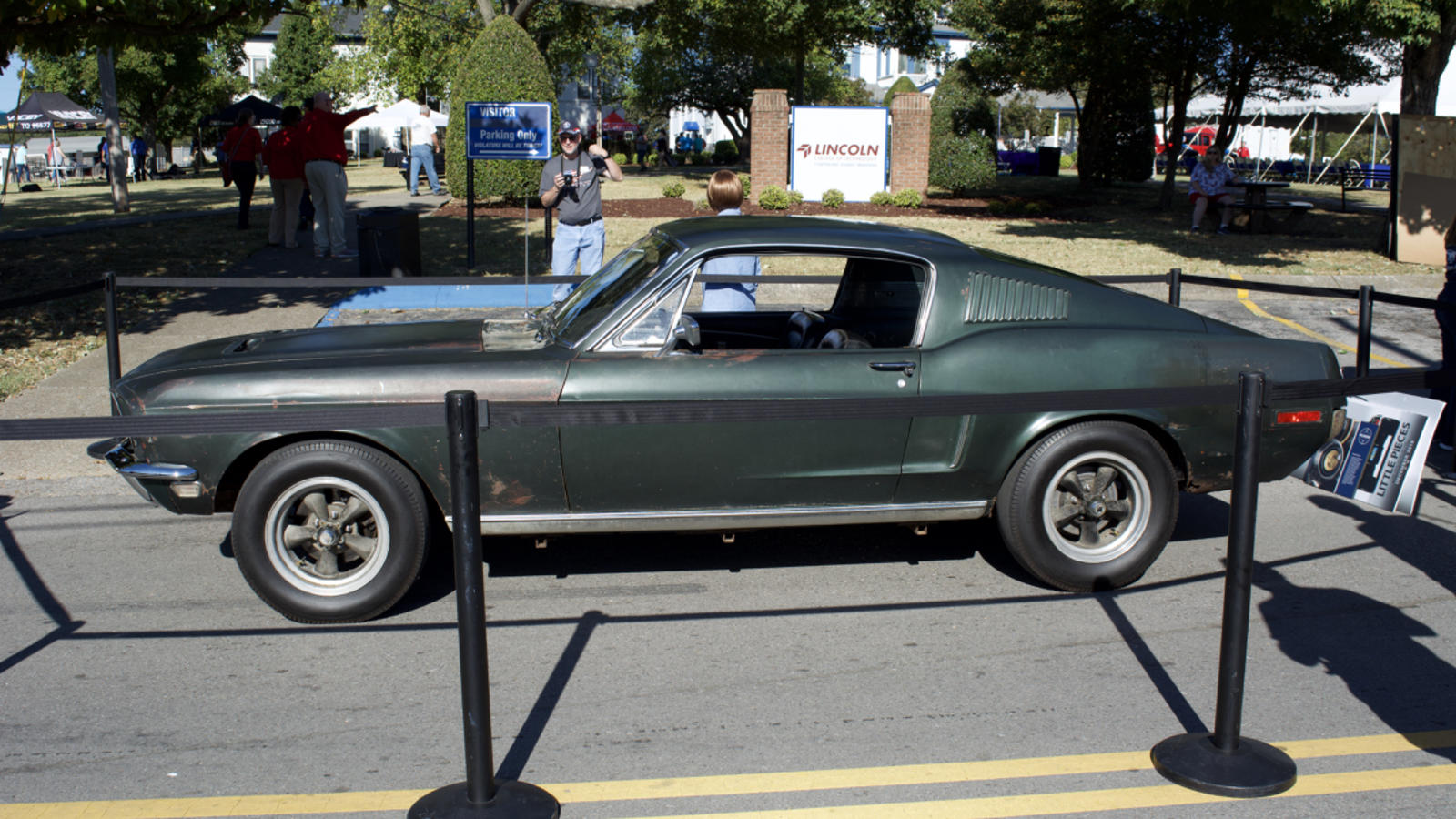 The Original 1968 Ford Mustang 390 Driven by Steve McQueen in the Movie Bullitt Displayed at Lincoln Tech's Nashville Campus