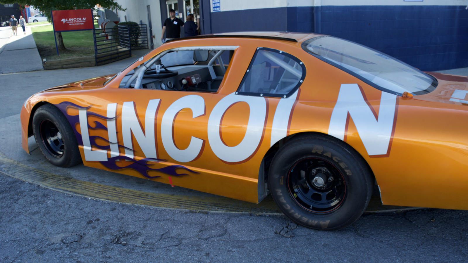 The Lincoln Tech Stock Car is Displayed at the Nashville 100th Anniversary Event.