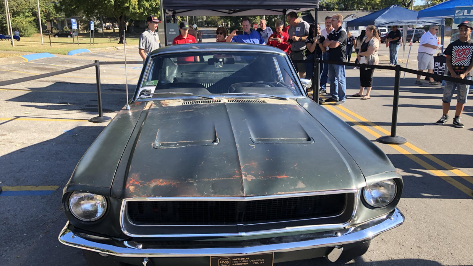 This is the actual 1968 Mustang Driven by Steve McQueen in the movie Bullitt