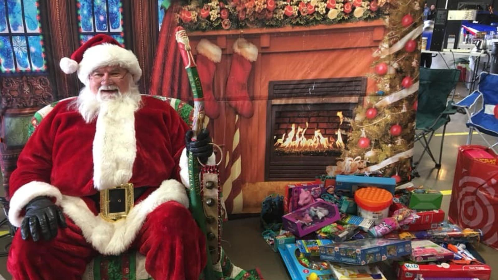 Santa Claus spreads cheer to all at the annual Toys for Tots campaign