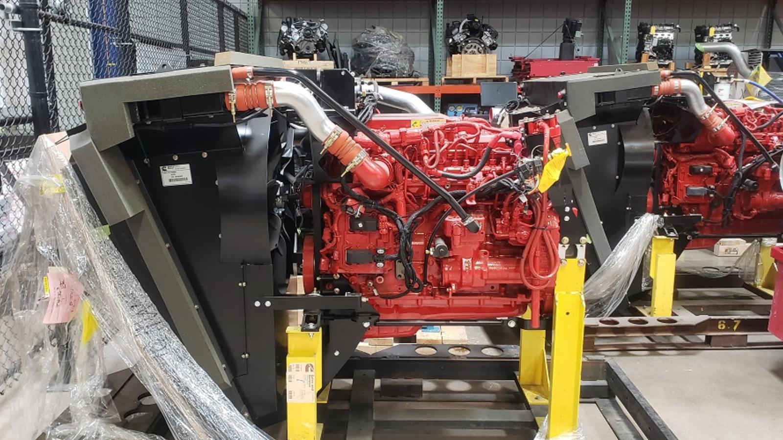 This is the left-side view of the Cummins 6.7 Liter Diesel 6-cylinder engine.