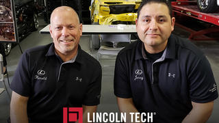 Express service manager Jerry DelGado and Shop Foreman Harold Berman of McGrath Lexus