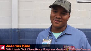 Diesel graduate Jadarius Kidd discusses his lifetime love for diesel trucks, and his journey into the diesel repair industry.