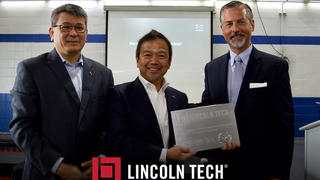 The Mazda corporation has partnered with Lincoln Tech to training new Mazda mechanics at the Queens campus.