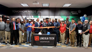 Johnson Controls Classroom Ribbon-Cutting at Lincoln Tech's Marietta GA Campus.
