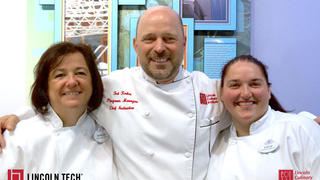 Left to Right: Sharon Palmer, LCI Shelton Student and Disney Extern; Chef Ted Redos LCI Shelton Culinary Program Manager; Caitlyn Cervero, LCI Shelton Student and Disney Extern