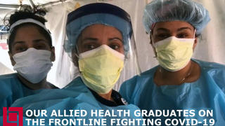 Lincoln Tech Allied Health graduates are hard at work on the frontline fighting the COVID-19 pandemic