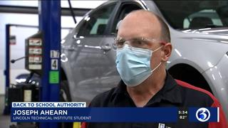 CBS Affiliate Eyewitness News-3 Interviews Lincoln Tech Students Safely Returning to Hands-on Training.