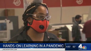 NBC News4 Investigative reporter Sarah Wallace visits the Lincoln Tech Mahwah campus to see how a safe hands-on training environment works in a pandemic.