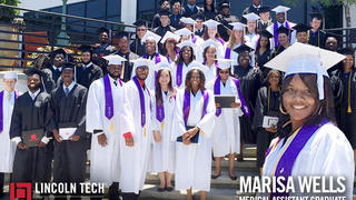 Marisa Wells and the rest of the graduated from Lincoln Tech Atlanta.