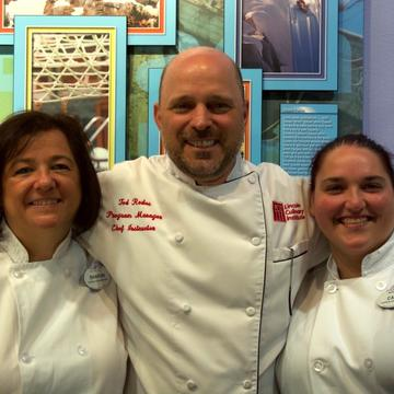 Head Chef Redos Alongside Culinary Students Sharon and Catie