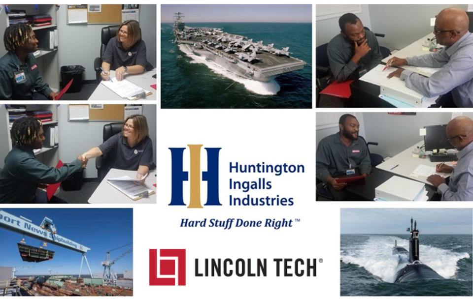 Shipbuilder & Navy Contractor Huntington Ingalls Recruits Lincoln Tech Students