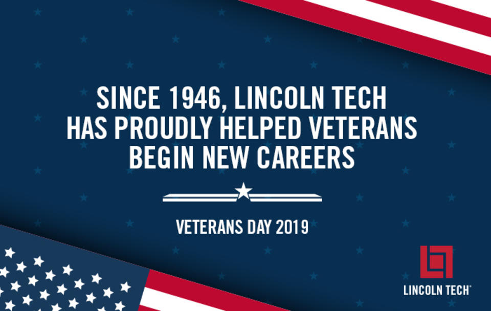 Since 1946, Lincoln Tech has proudly helped veterans begin new careers