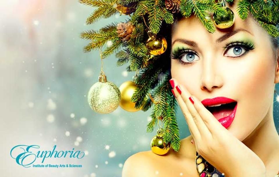 Euphoria Institute of Beauty's Holiday tips for great hair nails and makeup